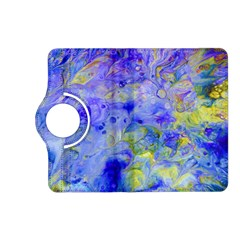 Abstract Blue Texture Pattern Kindle Fire Hd (2013) Flip 360 Case by Simbadda