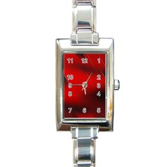 Red Black Abstract Rectangle Italian Charm Watch