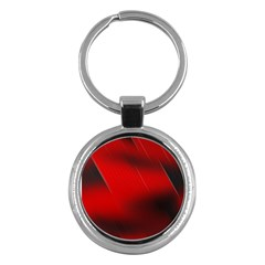 Red Black Abstract Key Chains (round)