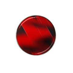 Red Black Abstract Hat Clip Ball Marker
