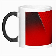 Red Black Abstract Morph Mugs
