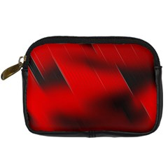 Red Black Abstract Digital Camera Cases