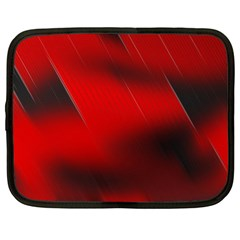 Red Black Abstract Netbook Case (xl)