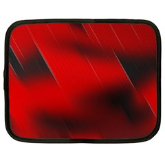 Red Black Abstract Netbook Case (xxl)