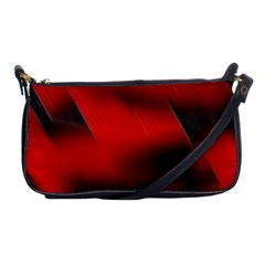 Red Black Abstract Shoulder Clutch Bags