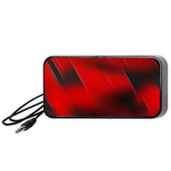 Red Black Abstract Portable Speaker