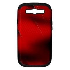 Red Black Abstract Samsung Galaxy S Iii Hardshell Case (pc+silicone)