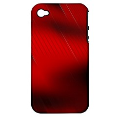 Red Black Abstract Apple Iphone 4/4s Hardshell Case (pc+silicone)