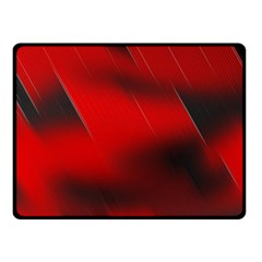 Red Black Abstract Double Sided Fleece Blanket (small)