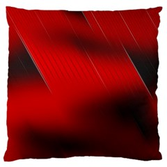 Red Black Abstract Standard Flano Cushion Case (two Sides)