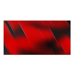Red Black Abstract Satin Shawl