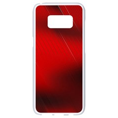 Red Black Abstract Samsung Galaxy S8 White Seamless Case