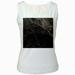 Marble Tiles Rock Stone Statues Women s White Tank Top
