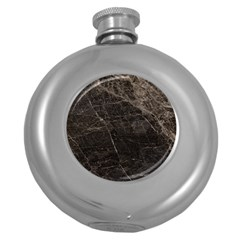 Marble Tiles Rock Stone Statues Round Hip Flask (5 Oz)