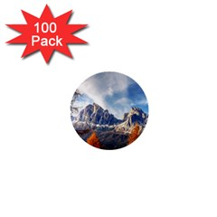 Dolomites Mountains Italy Alpine 1  Mini Buttons (100 Pack)