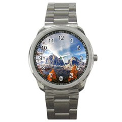 Dolomites Mountains Italy Alpine Sport Metal Watch