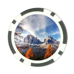 Dolomites Mountains Italy Alpine Poker Chip Card Guard