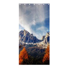 Dolomites Mountains Italy Alpine Shower Curtain 36  X 72  (stall)  by Simbadda