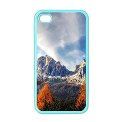 Dolomites Mountains Italy Alpine Apple Iphone 4 Case (color)