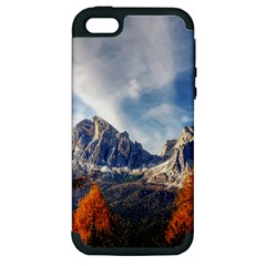 Dolomites Mountains Italy Alpine Apple Iphone 5 Hardshell Case (pc+silicone)