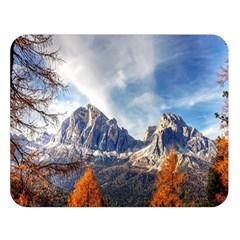 Dolomites Mountains Italy Alpine Double Sided Flano Blanket (large)