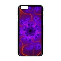 Fractal Mandelbrot Apple Iphone 6/6s Black Enamel Case