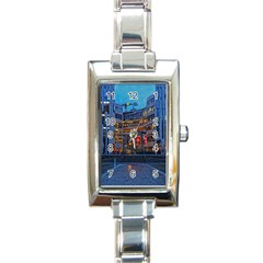 Architecture Modern Building Rectangle Italian Charm Watch