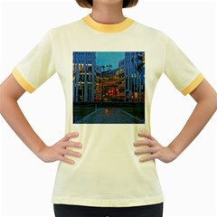 Architecture Modern Building Women s Fitted Ringer T Shirts