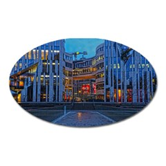 Architecture Modern Building Oval Magnet