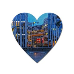 Architecture Modern Building Heart Magnet by Simbadda