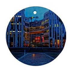 Architecture Modern Building Round Ornament (two Sides)