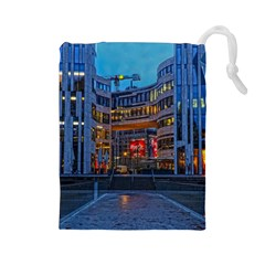 Architecture Modern Building Drawstring Pouches (large)