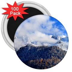 Mountains Alpine Nature Dolomites 3  Magnets (100 Pack)
