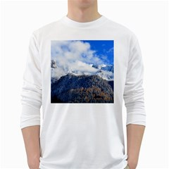 Mountains Alpine Nature Dolomites White Long Sleeve T Shirts