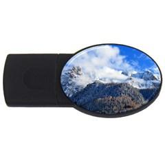Mountains Alpine Nature Dolomites Usb Flash Drive Oval (4 Gb)