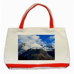 Mountains Alpine Nature Dolomites Classic Tote Bag (red)