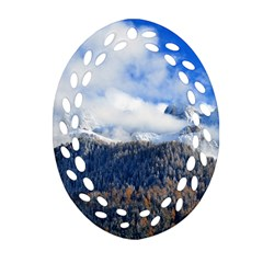 Mountains Alpine Nature Dolomites Ornament (oval Filigree)