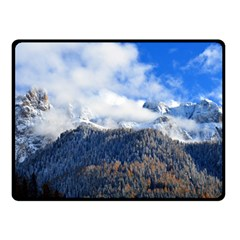 Mountains Alpine Nature Dolomites Double Sided Fleece Blanket (small)