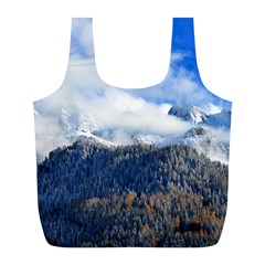 Mountains Alpine Nature Dolomites Full Print Recycle Bags (l)