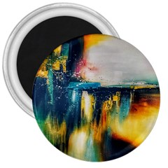Art Painting Abstract Yangon 3  Magnets