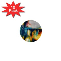 Art Painting Abstract Yangon 1  Mini Buttons (10 Pack)