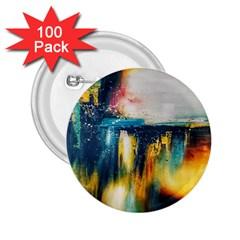 Art Painting Abstract Yangon 2 25  Buttons (100 Pack)  by Simbadda