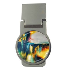 Art Painting Abstract Yangon Money Clips (round)