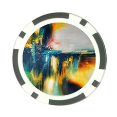 Art Painting Abstract Yangon Poker Chip Card Guard (10 Pack)