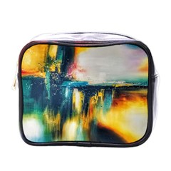 Art Painting Abstract Yangon Mini Toiletries Bags