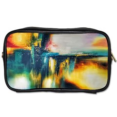 Art Painting Abstract Yangon Toiletries Bags 2 Side