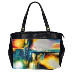 Art Painting Abstract Yangon Office Handbags (2 Sides)