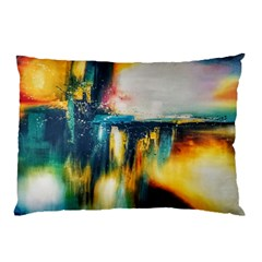 Art Painting Abstract Yangon Pillow Case (two Sides)