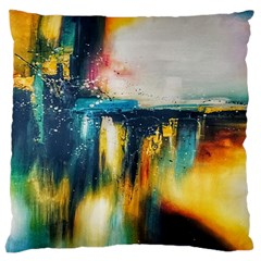 Art Painting Abstract Yangon Large Cushion Case (one Side)