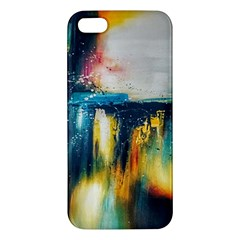 Art Painting Abstract Yangon Apple Iphone 5 Premium Hardshell Case